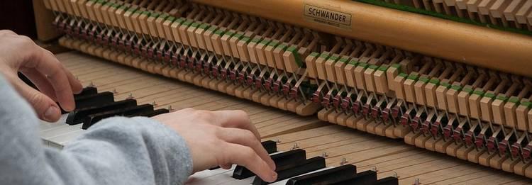 binnenzijde piano