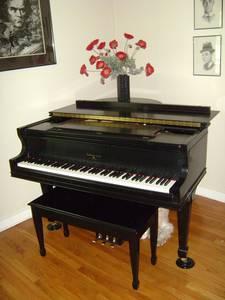 piano met kruk