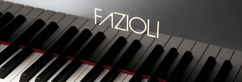 Een zwarte Fazioli piano