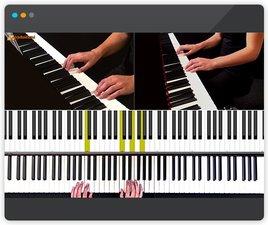 Een video waarin pianoles wordt gegeven door Elize van den Berg