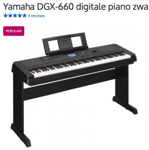 Een afbeelding van de digitale piano Yamaha DGX-660