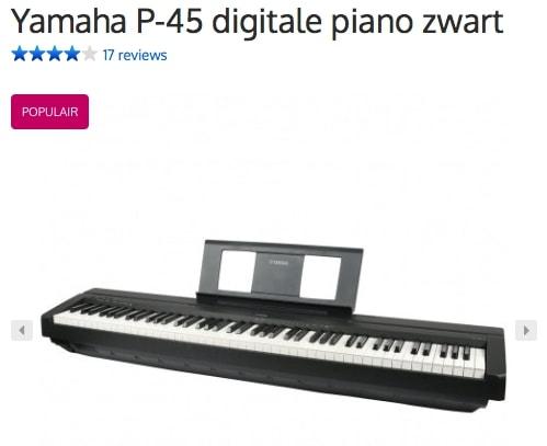 Een afbeelding van de digitale piano Yamaha P-45