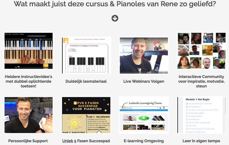 Alle voordelen van Pianoles van Rene op een rij