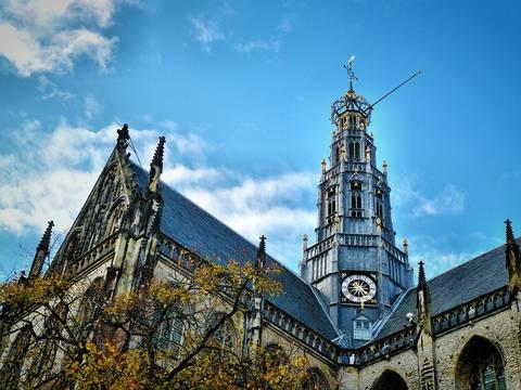 De st. Bavo kerk in Haarlem