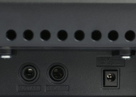 Yamaha P45 aansluitingen